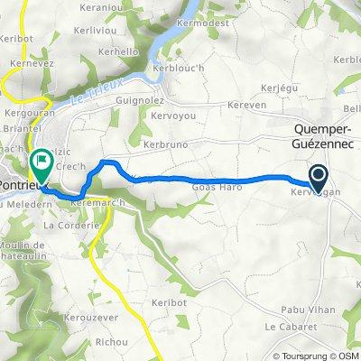 De Kergadegan, Quemper-Guézennec à 2 Rue des Fontaines, Pontrieux