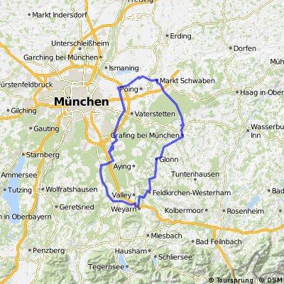 116 km Aschheim-Weyarn-Aschheim