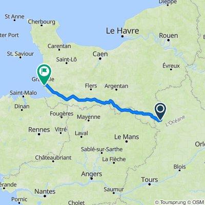 De D368.3, La Gaudaine à 895 Rue des Cerisiers, Saint-Pair-sur-Mer