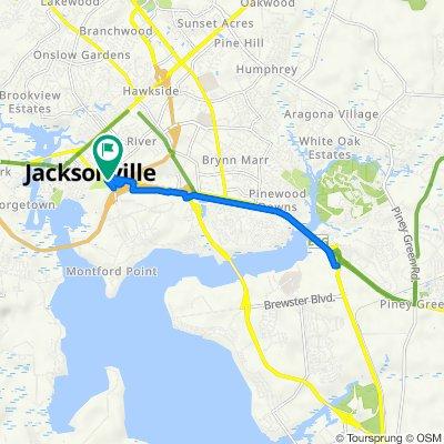 111–115 Montford Landing Rd, Jacksonville to 111–115 Montford Landing Rd, Jacksonville