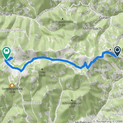 Route nach Teichalm 41, Teichalm