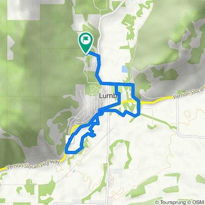 2415 Cedar Ridge St, Lumby to 2404 Spruce Ave, Lumby