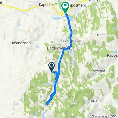 Olajhegy lakótelep 38–39., Bárdudvarnok to Rákóczi utca 118., Kaposmérő