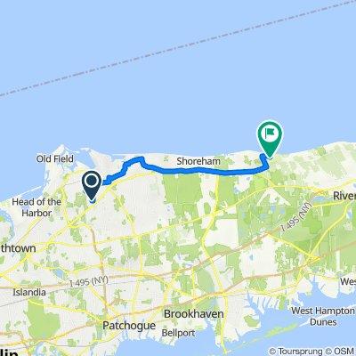 Route from 6 Deer Ln, East Setauket