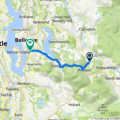 Preston-Snoqualmie Trail, Fall City to I-90 Trail, Bellevue