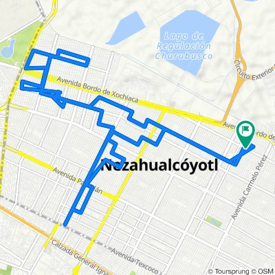 De La Texanita 421, Nezahualcóyotl a La Malagueña 398, Nezahualcóyotl
