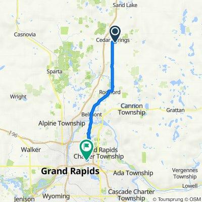 334 Jeffrey St, Cedar Springs to 1949 Leonard St NE, Grand Rapids