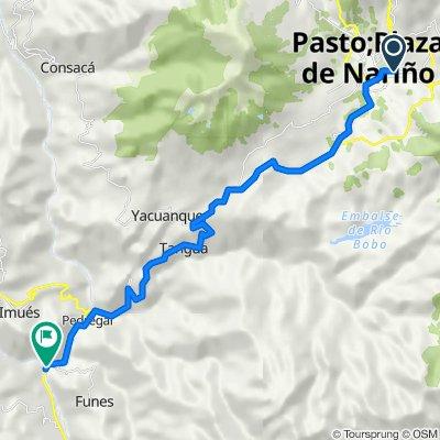 De Calle 22 1a69, Pasto a Ipiales-Pilcuan