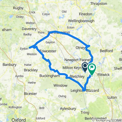 Route from 30 Drayhorse Crescent, Milton Keynes