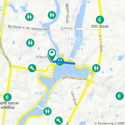 Route from Road No 8 74, Dhaka