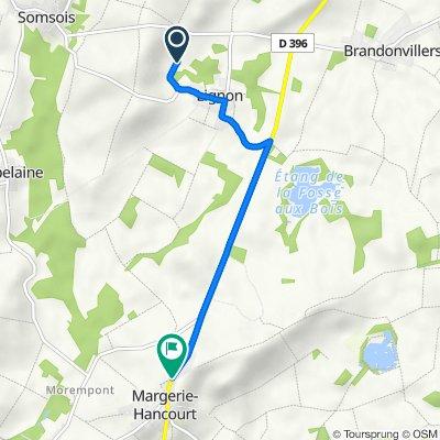 Itinéraire vers 17 Rue Lucien Frampas, Margerie-Hancourt