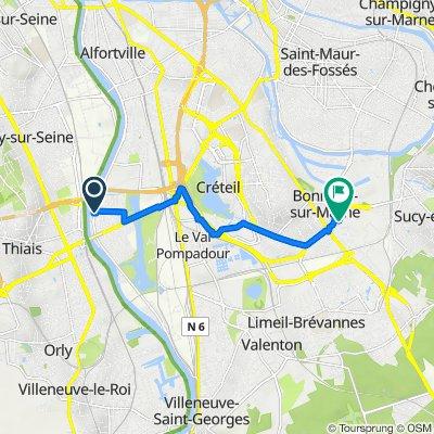 De 70 Avenue d'Alfortville, Choisy-le-Roi à 6 Avenue des Bleuets, Bonneuil-sur-Marne