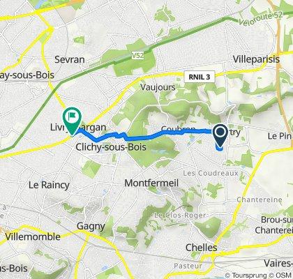 De 16 Rue du Hameau du Village, Courtry à 147 Avenue Aristide Briand, Livry-Gargan