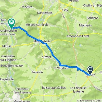 De 2bis Rue de l'Église, Ury à 3 Rue du Pressoir, Boutigny-sur-Essonne