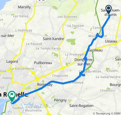 De 3 Rue des Petites Maisons, Saint-Ouen-d'Aunis à 85 Quai Louis Prunier, La Rochelle