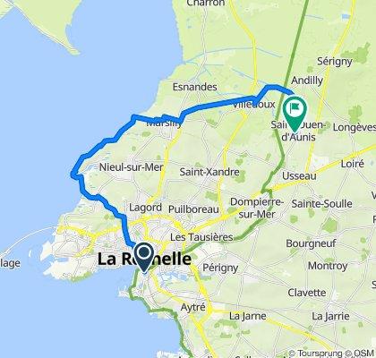 De 85 Quai Louis Prunier, La Rochelle à 11 Rue des Petites Maisons, Saint-Ouen-d'Aunis
