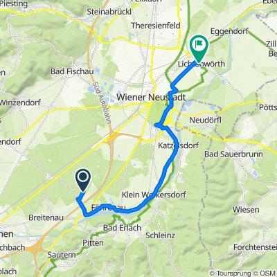 Route nach Hauptplatz 3/1, Lichtenwörth