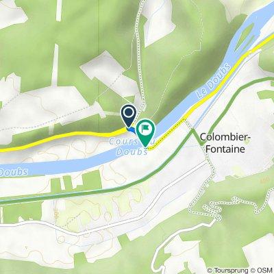 D663, Longevelle-sur-Doubs nach Rue du Doubs, Colombier-Fontaine
