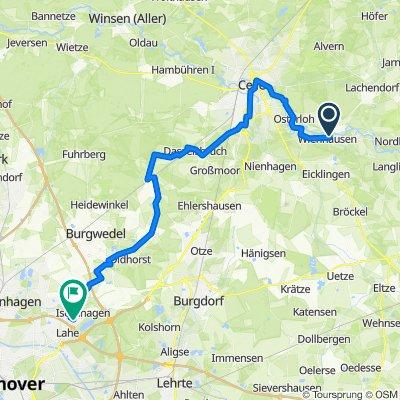 Saale 16a kurz: Wienhausen - Isernhagen Jöran, 48,5km, 71hm