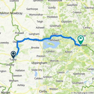 The Gunsells Farm, Wood Lane, Leicester to 9 All Saints' Pl, Stamford