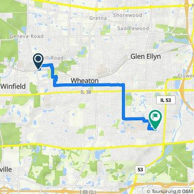 26W450 Cooley Ave, Winfield to 22W271 Glen Park Rd, Glen Ellyn