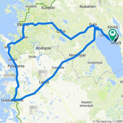 173km Säkylä - Rauma - Uki - Säkylä