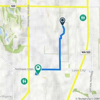 13741 26th Ave NE, Seattle to 1700 NE 124th St, Seattle