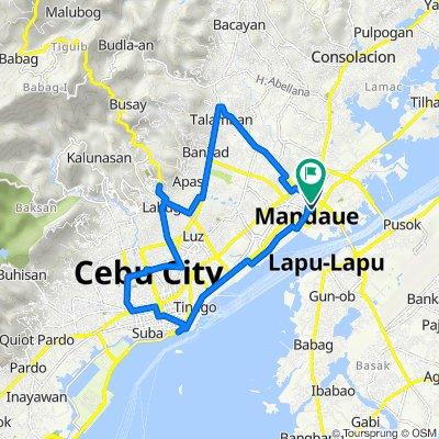 P.J.Burgos 350, Mandaue City to Orlacsan Street 102, Mandaue City