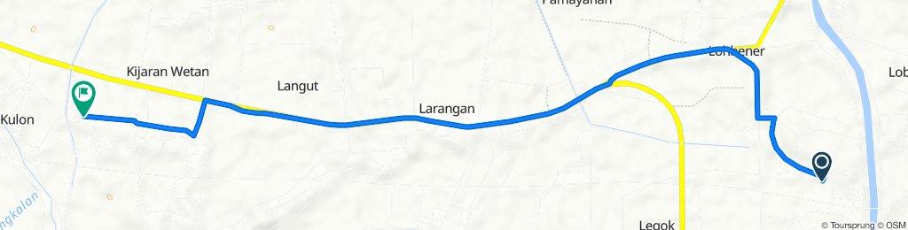 Legok, Kecamatan Lohbener to Unnamed Road, Lohbener