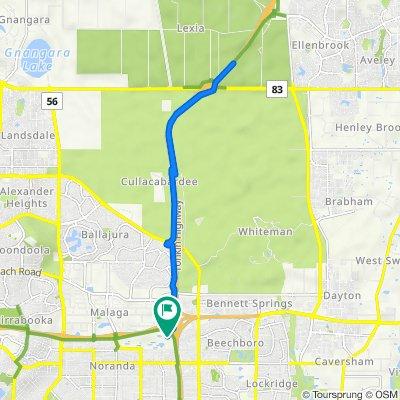 Clayton Silcock Gardens, Noranda to Clayton Silcock Gardens, Noranda