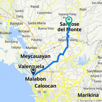 Route to J.P. Rizal Street, San Jose del Monte City