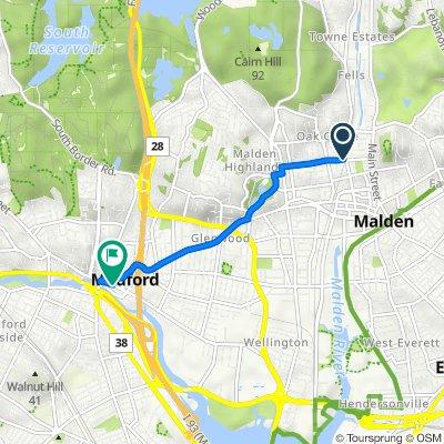 128–166 Washington St, Malden to 55 Riverside Ave, Medford