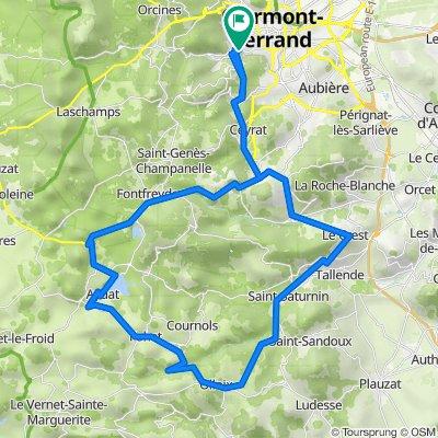 Col de la Ventouse Circuità partir de Royat-Chamalières