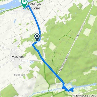 Loop: Saint-Dyé-sur-Loire to Chateau Chambord