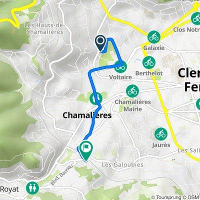 De 1D Rue Chateaubriand, Chamalières à 5bis Place de la Gare, Chamalières