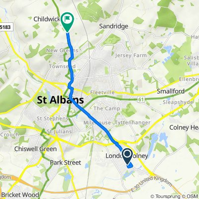 30 Sanders Close, St Albans to Hawkswick Lodge, Harpenden Road, St Albans
