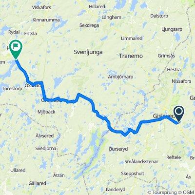 Ågatan 45, Anderstorp to Öresjövägen 1, Örby