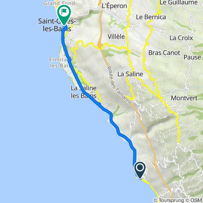 Itinéraire vers Esplanade des Roches Noires, Saint-Gilles-les-Bains