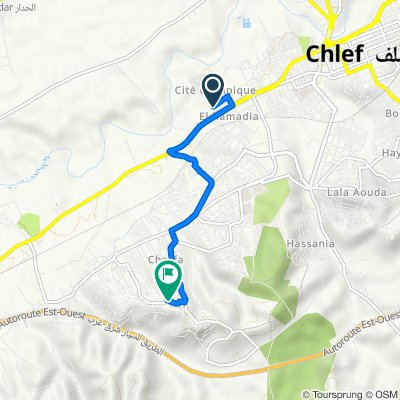De N4, Chlef à Unnamed Road, Chlef