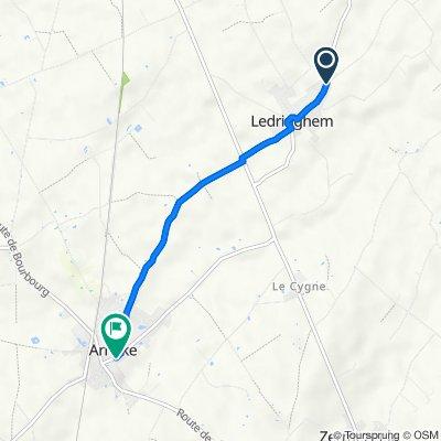 De 63 Route de Wormhout, Ledringhem à 2 Rue de la Poste, Arnèke