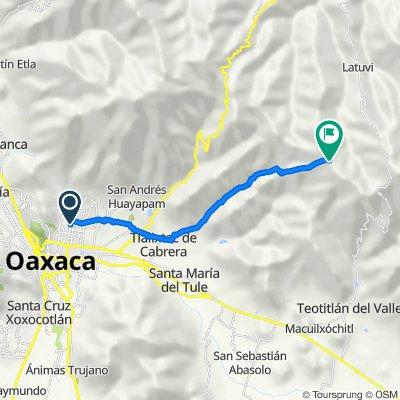 Ruta desde Boulevard Mártires de Chicago 44–47, Oaxaca de Juárez