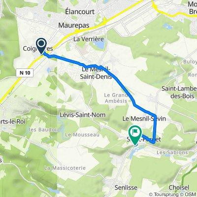 De 1 Rue de la Prévenderie, Coignières à 3 Rue de Chevreuse, Dampierre-en-Yvelines