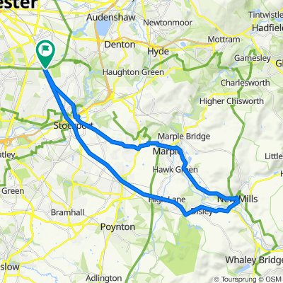 Levenshulme - Marple - New Mills - Disley - Levenshulme
