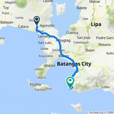 Diokno Highway 227, Lemery to Batangas - Tabangao - Lobo Road