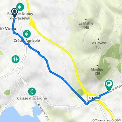 De 26 Rue des Platanes, Balaruc-le-Vieux à Route de Balaruc, Frontignan