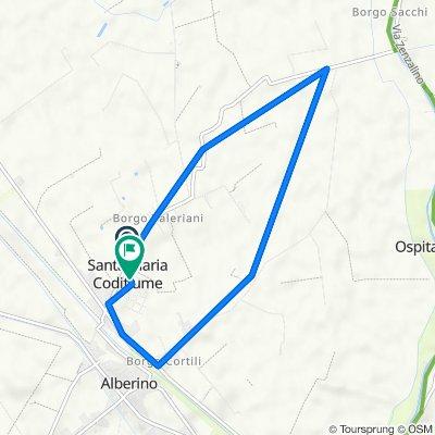 Da Via Fascinata 79/a, Santa Maria Codifiume a Via Giacomo Leopardi, Santa Maria Codifiume