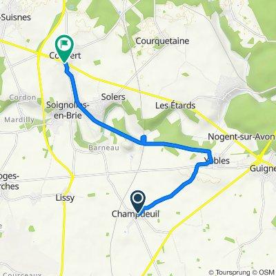 De 59 Rue Grande, Champdeuil a 2–24 Allée du Cygne, Coubert