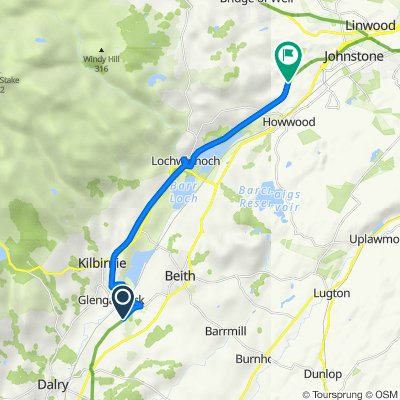 40–60 Auchengree Road, Glengarnock, Beith to Kibblestone Road, Kilbarchan, Johnstone