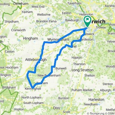 38 mile Norwich Kenninghall loop