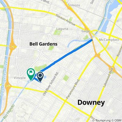 7163 Pellet St, Downey to 7000 Dinwiddie St, Downey